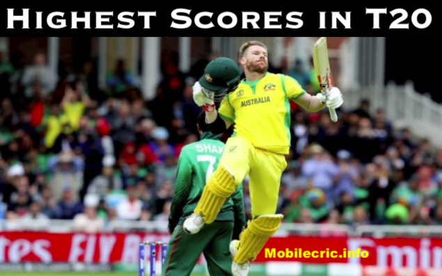 highest score in t20